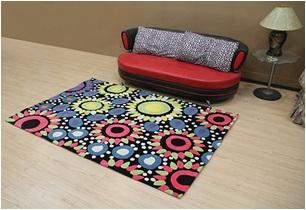 2 x Acrylic rugs